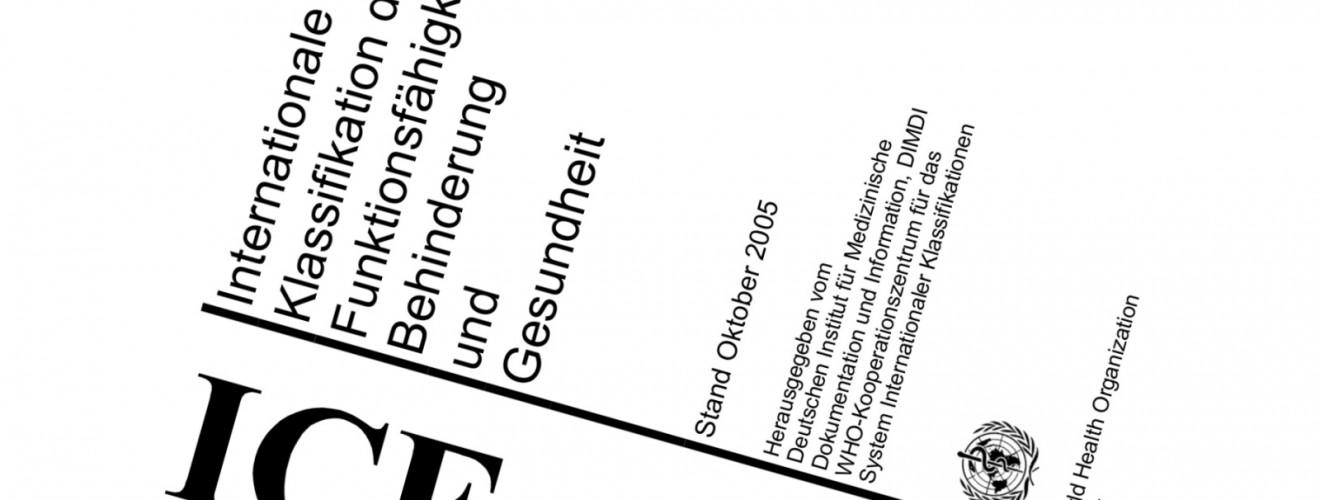 Deckblatt der International Classification of Functioning, Disability and Health (ICF)