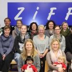 Teilnehmer des Bobath-Kurses-Pädiatrie 2015-16, zusammen mit den Lehrtherapeutinnen Gudrun Neumann und Kirsten Bejarano