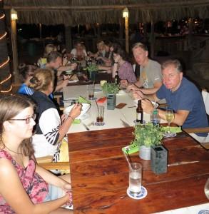 Gemeinsames Abendessen nach der Zertifikatsübergabe des SI 3a/b