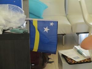 kleine Flagge von Curaçao