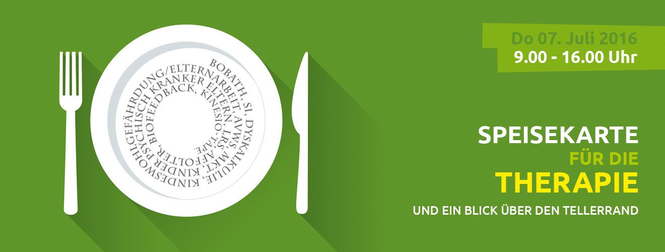 Kongress Speisekarte für die Therapie 2016